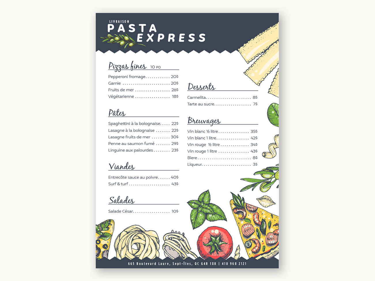 PastaExpressMenu